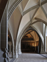 The late-Gothic architecture becomes especially well visible in the castle's Grand Hall.